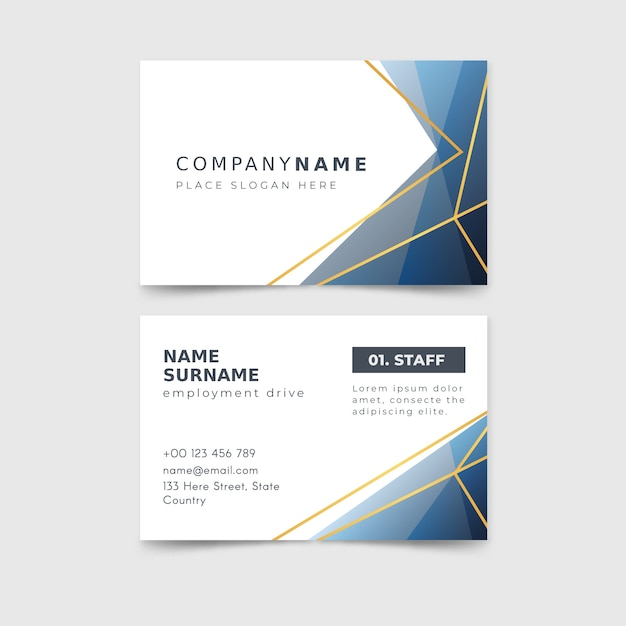 Abstract business card collection template Free Vector