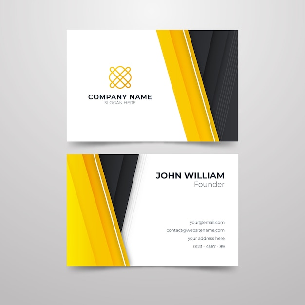 Abstract business card for company Free Vector