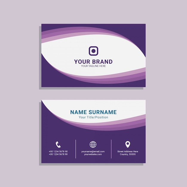 Abstract business card for corporate template design premium vector Premium Vector