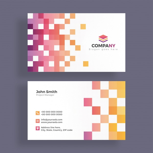 abstract business card design horizontal business card premium vector