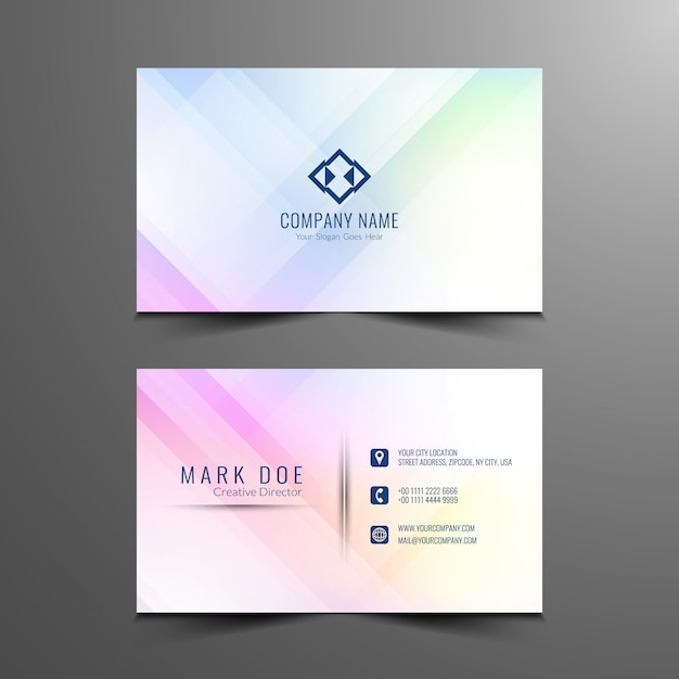 abstract business card design template vector free download