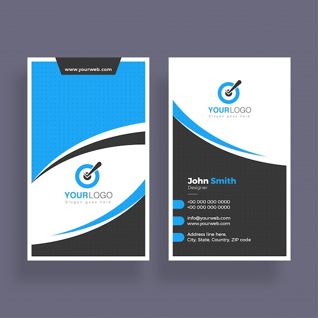 Abstract business card design vertical business card vector abstract business card design vertical business card premium vector reheart Gallery
