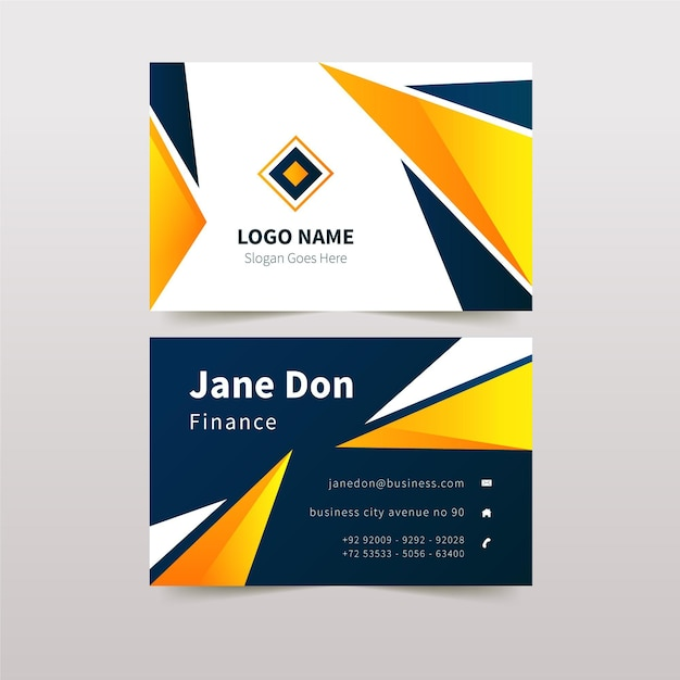 Abstract business card design with details Free Vector