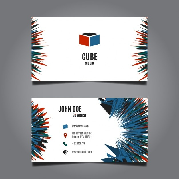 abstract business card design vector free download