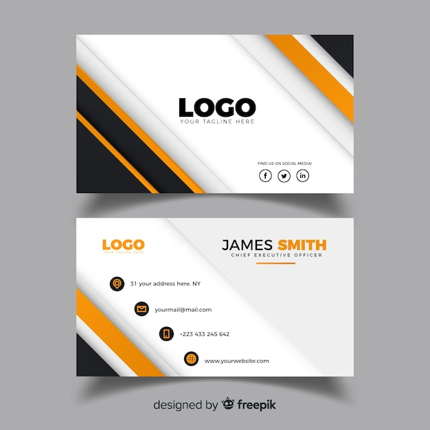 Abstract business card design Free Vector