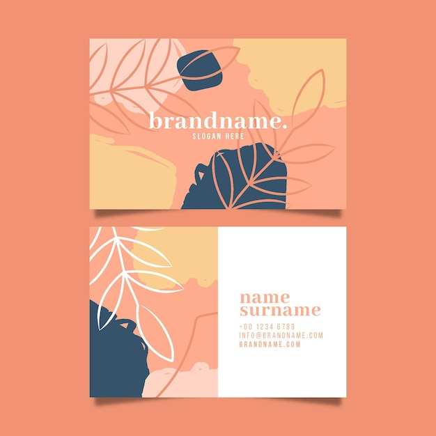 Abstract business card pack Free Vector
