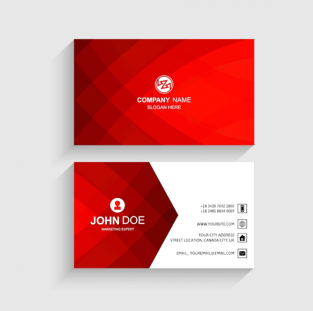 Abstract business card template beautiful design Free Vector