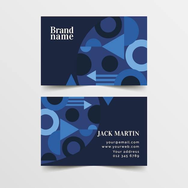 Abstract business card template concept Free Vector