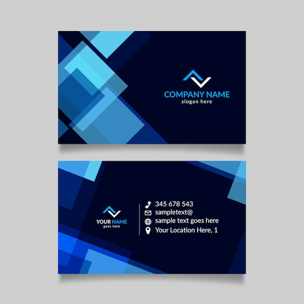 Abstract business card template design Free Vector