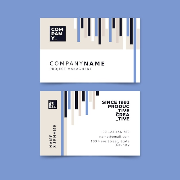 Abstract business card template pack Free Vector