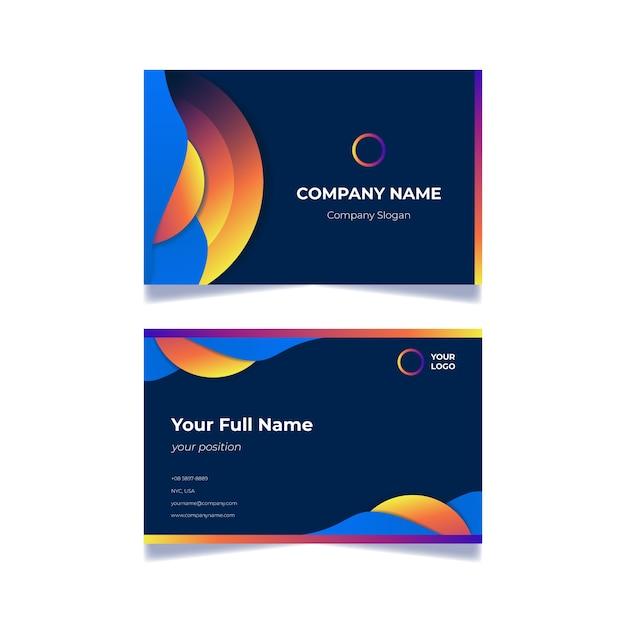 Абстрактная тема шаблон визитной карточки Бесплатные векторы