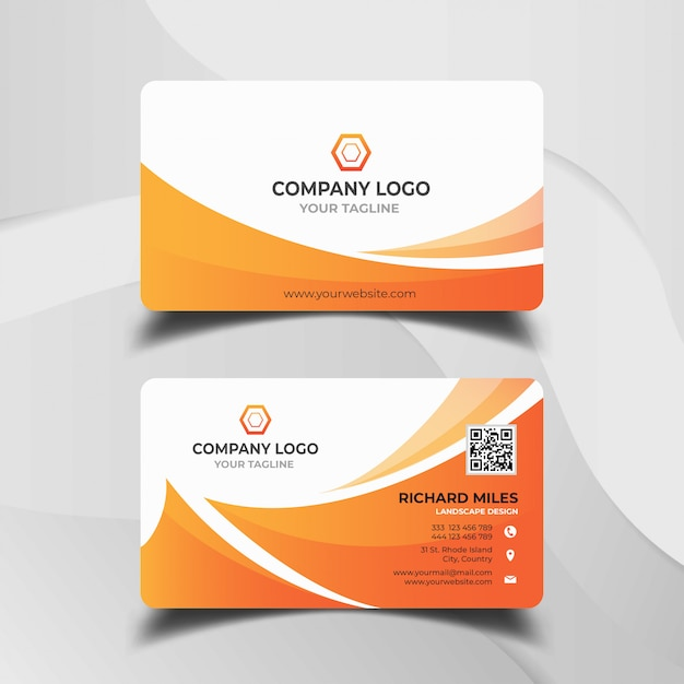 Abstract business card template Premium Vector