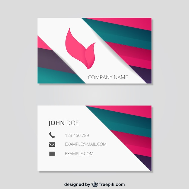Abstract Business Card Template Vector Free Download - Template of business card