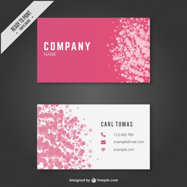 Abstract Business Card Template Vector Free Download - Business cards templates free