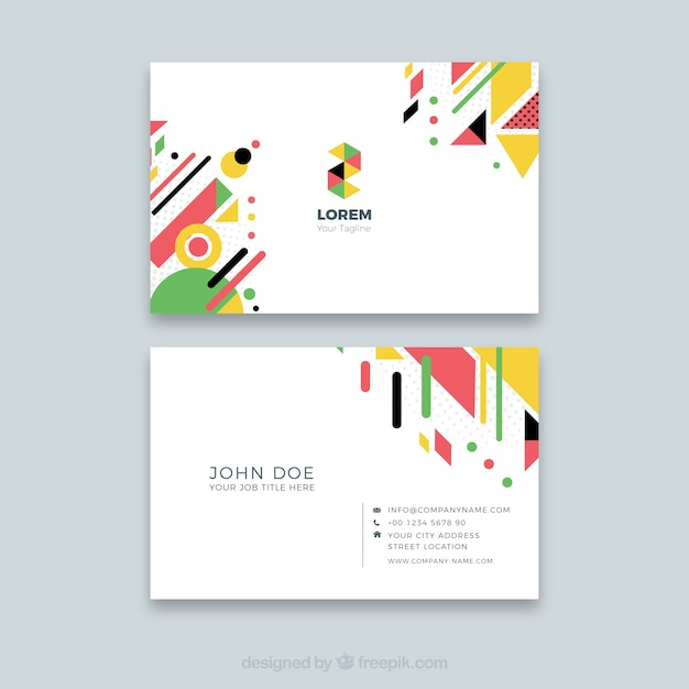 Abstract Business Card Template Vector Free Download - Business card template paper