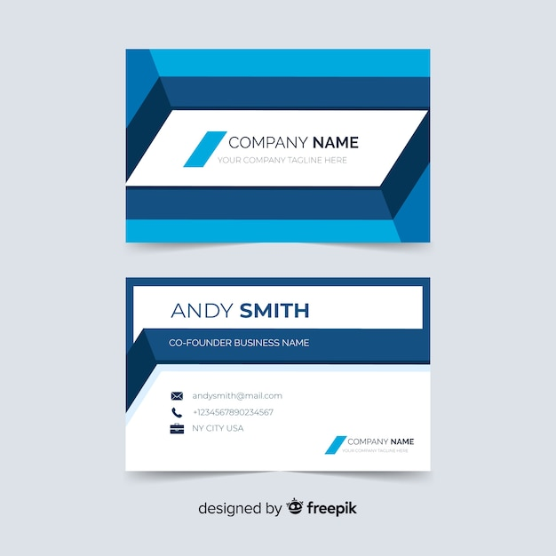 Abstract business card template Free Vector