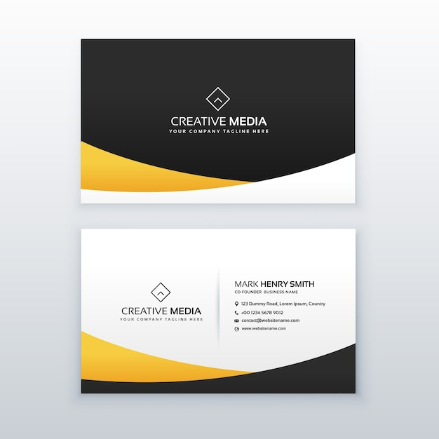 Abstract business card with golden details vector free download abstract business card with golden details free vector colourmoves