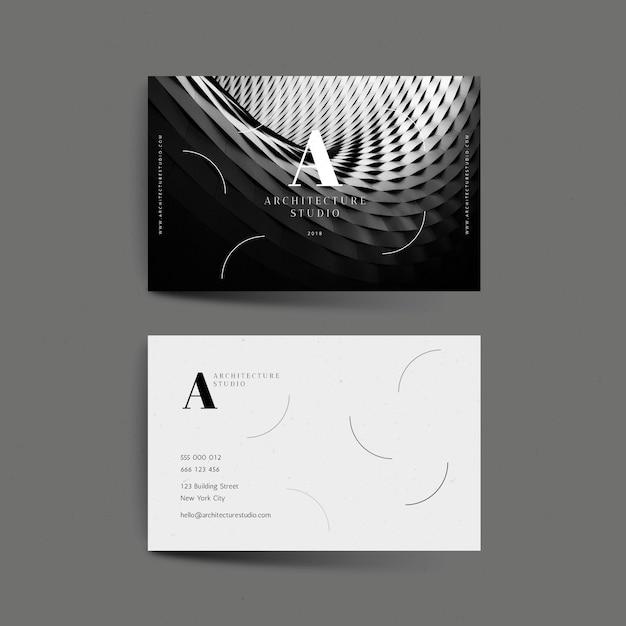 Абстрактная визитка с фото шаблоном Бесплатные векторы