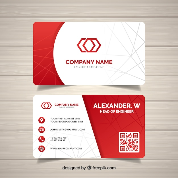 Abstract business card vector free download abstract business card free vector reheart Gallery