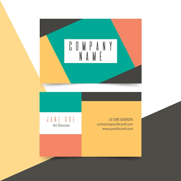 Abstract business card Free Vector