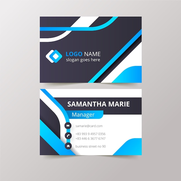 Abstract business cards concept Free Vector