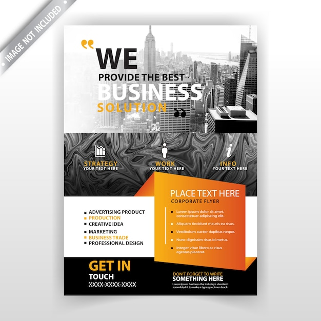 abstract business commercial flyer Free Vector
