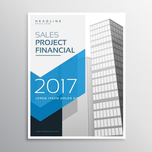 abstract business cover of skyscrapers free vector