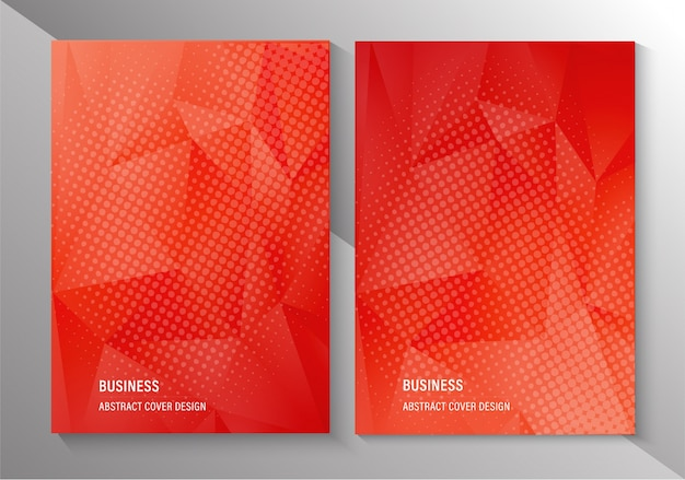 Abstract business cover template page poster design Premium Vector
