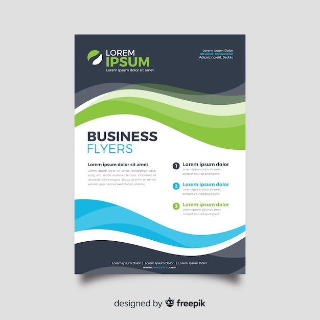 Abstract business flyer template flat design Free Vector