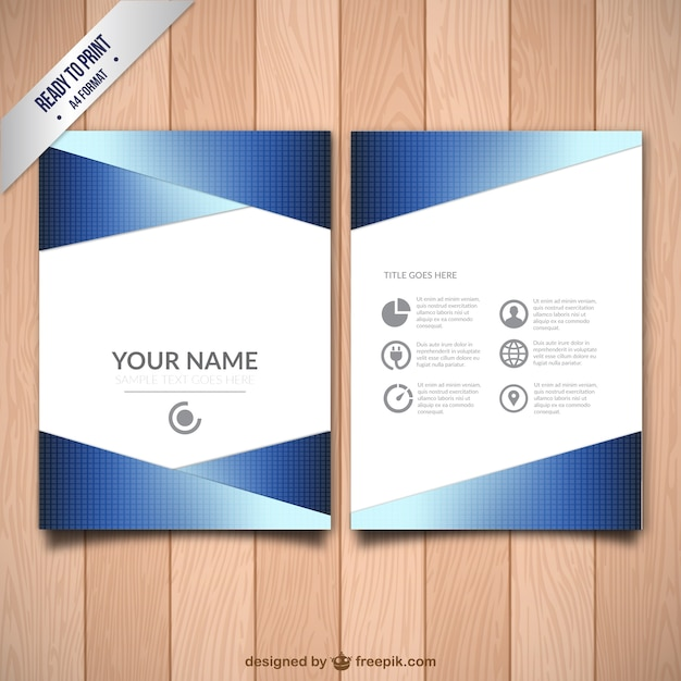 Book Cover Layout Download ~ Abstract business flyer template vector free download
