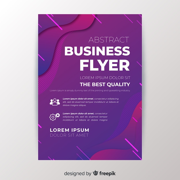 Abstract business flyer template Free Vector