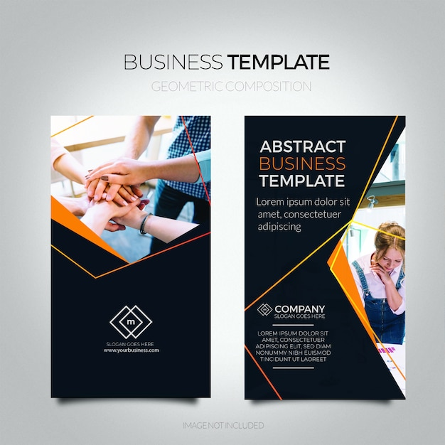 Abstract business flyer template. Free Vector