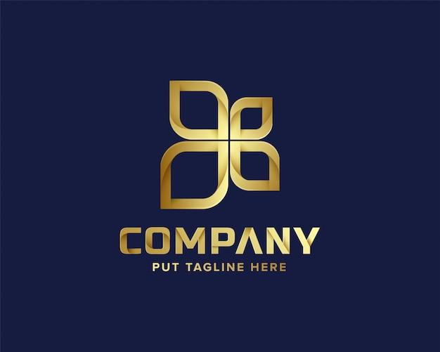 Абстрактный бизнес золотой логотип шаблон Premium векторы
