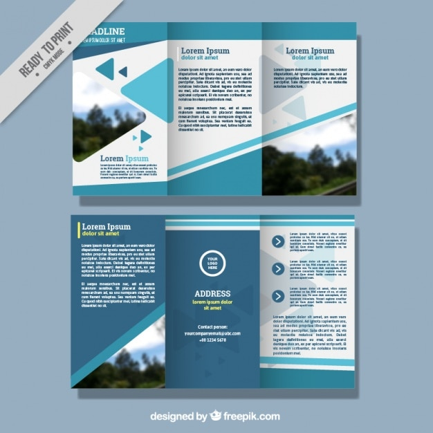 Abstract business leaflet template vector free download abstract business leaflet template free vector wajeb