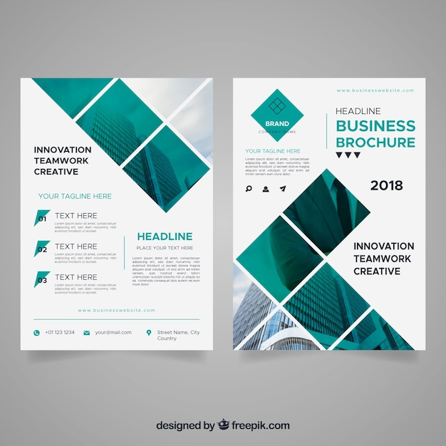 Abstract business leaflet Free Vector