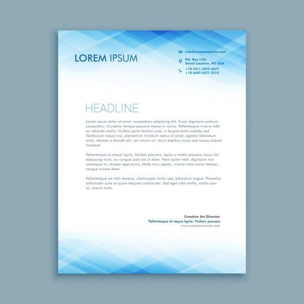 abstract business letterhead template vector free download