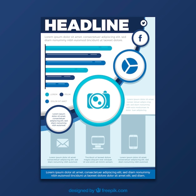 abstract business poster template vector free download