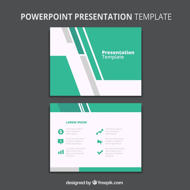 abstract business powerpoint template vector | free download, Powerpoint templates