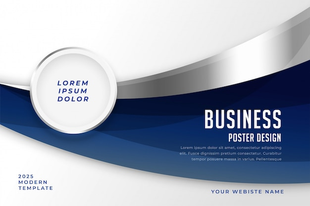 Abstract business style presentation modern template Free Vector