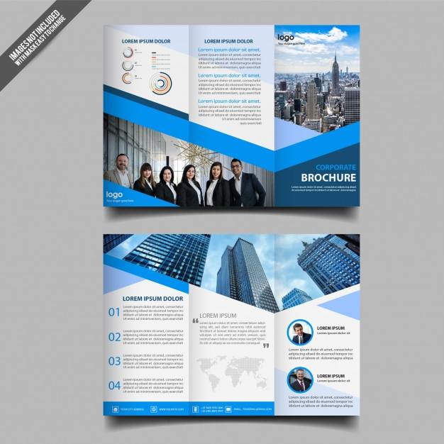 Abstract business trifold brochure template Premium Vector