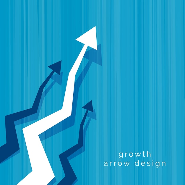abstract business vector arrow design background Free Vector