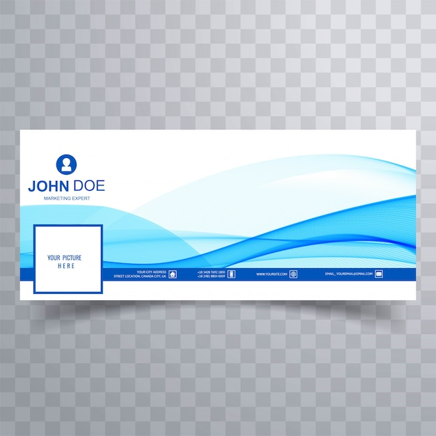 Abstract business wave facebook banner for timeline Free Vector