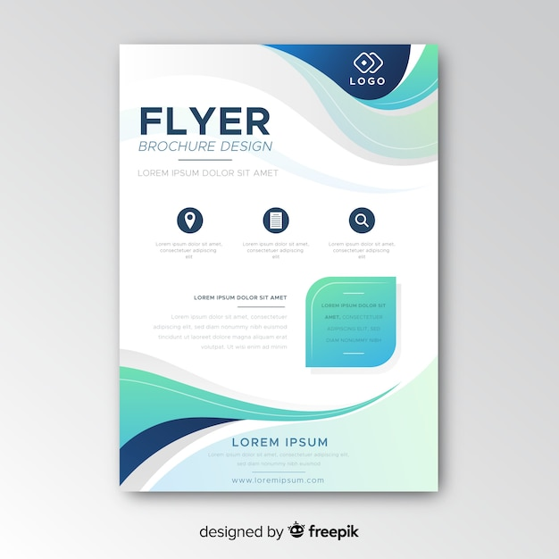 Abstract bussiness flyer template Free Vector