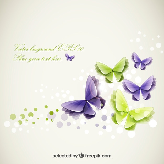 abstract butterflies template free vector