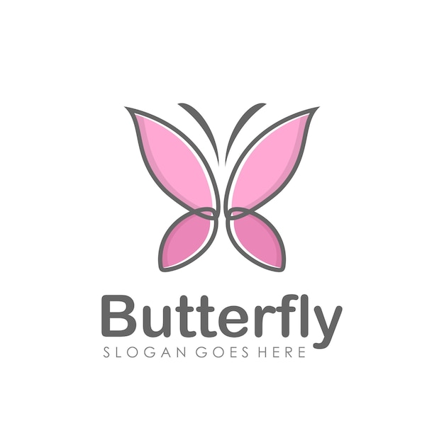abstract butterfly logo design vector premium download
