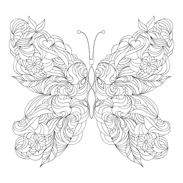 Abstract butterfly on white background Premium Vector