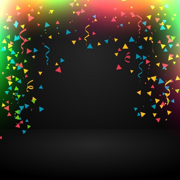 Abstract celebration background with confetti Vector ...