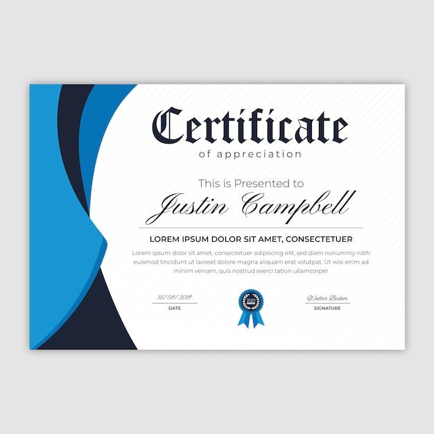 Abstract certificate of appreciation Premium Vector