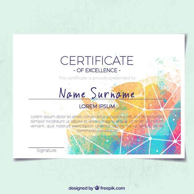 Abstract certificate of appreciation with colored shapes vector abstract certificate of appreciation with colored shapes free vector yelopaper Image collections