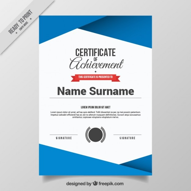 Abstract Certificate Template Free Vector  Free Download Certificate Templates
